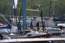 Ważenie jachtów kabinowych