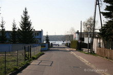 Wjazd do portu, po lewej CHKŻ, po prawej LKS